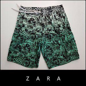 Zara Man Men's Drawstring Board Shorts Small
